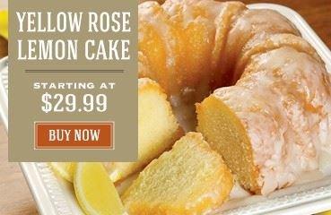 Yellow Rose Lemon Cake - Promo