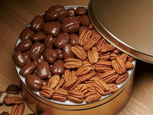 Natural Choclate Pecans 1/2 lb. ea.