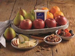 Gourmet Fruit & Cheese Gift Basket