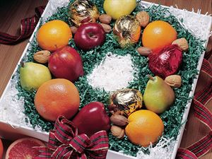 Holiday Fruit Wreath