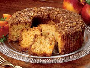 Peach Streusel Cake