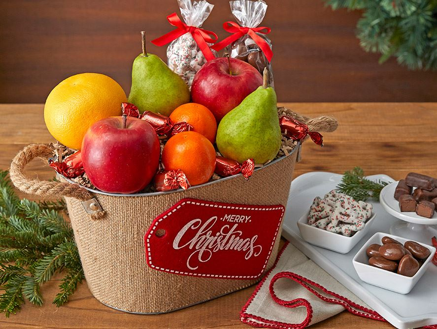 Christmas Wishes Gift Basket