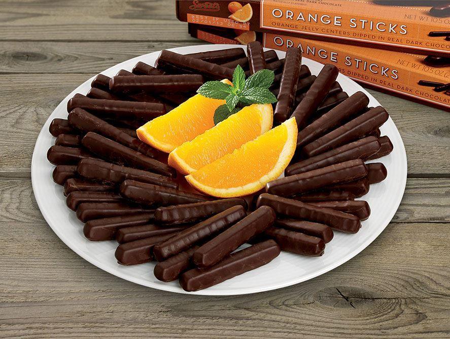 Dark Chocolate Orange Sticks