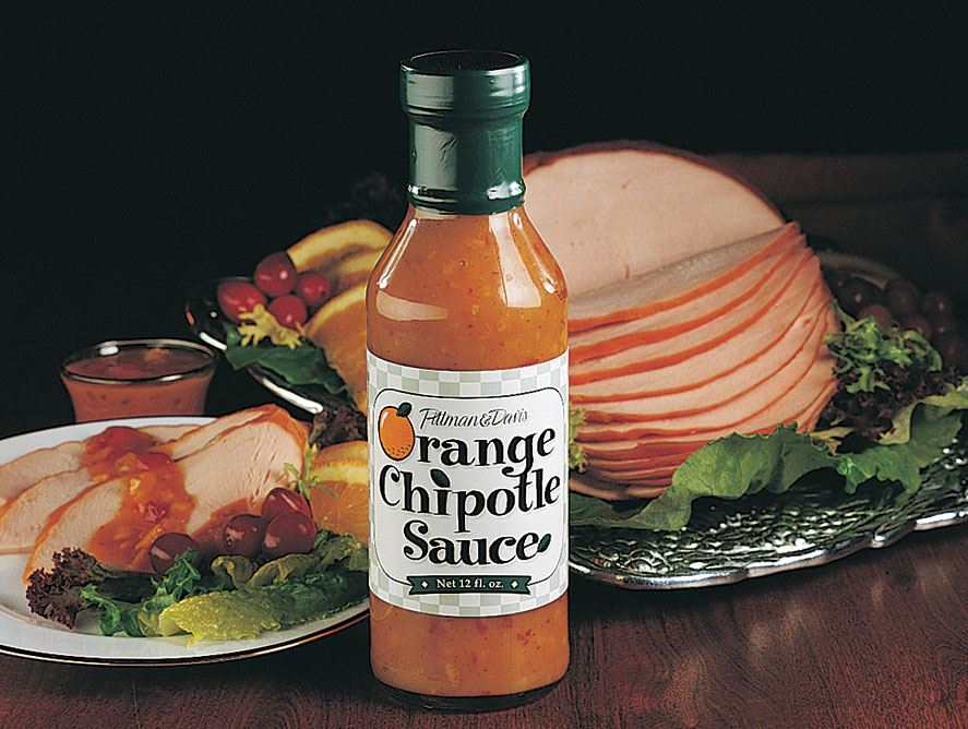 Smoked Boneless Turkey Breast with Orange Chipotle Sauce