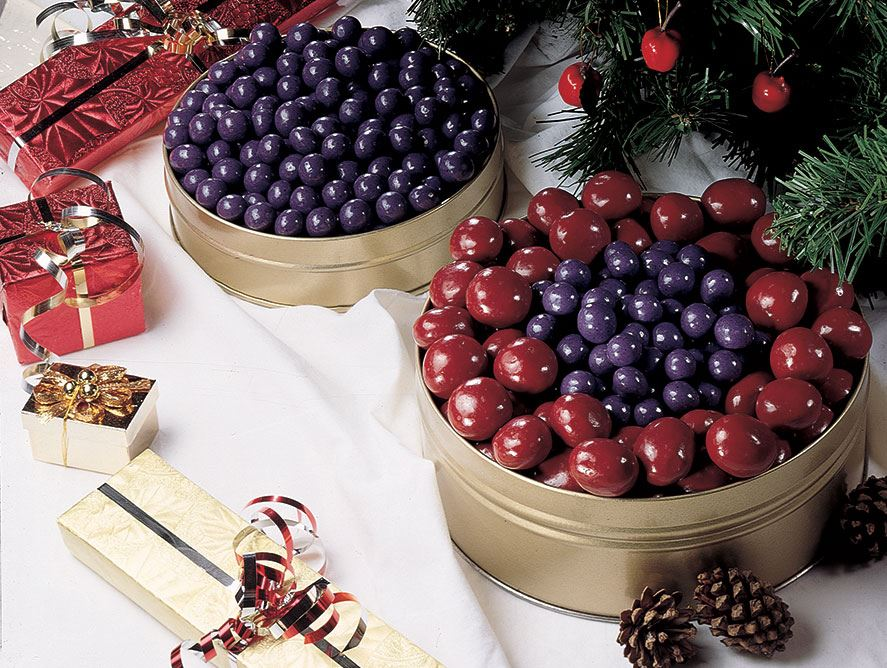 Chocolate Covered Bing Cherries & Blueberries