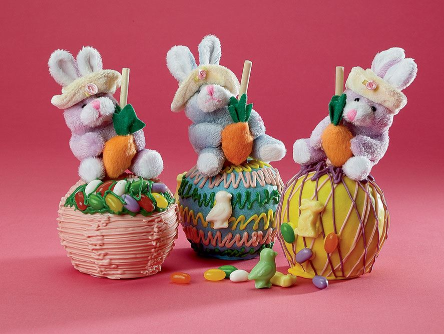 Easter Caramel Apples