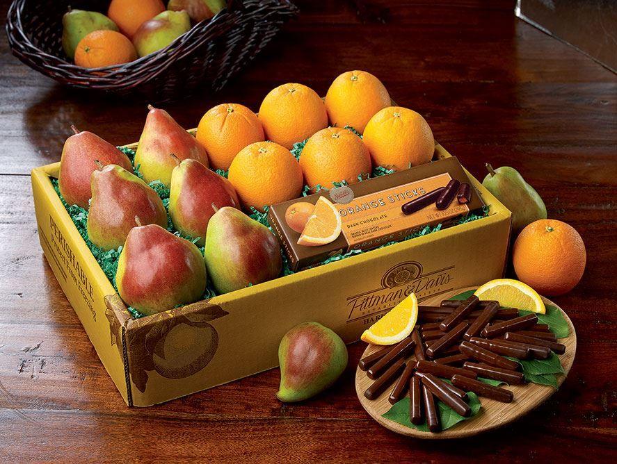 Comice, Navels & Chocolate Orange Sticks