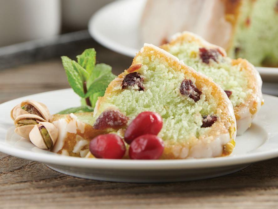 Pistachio Cranberry Cake