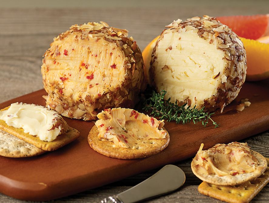 Asiago & White Cheddar Chardonnay Cheese Balls