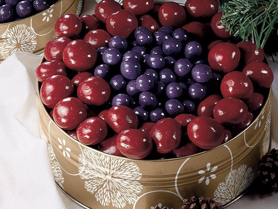 Chocolate Covered Bing Cherries & Blueberries