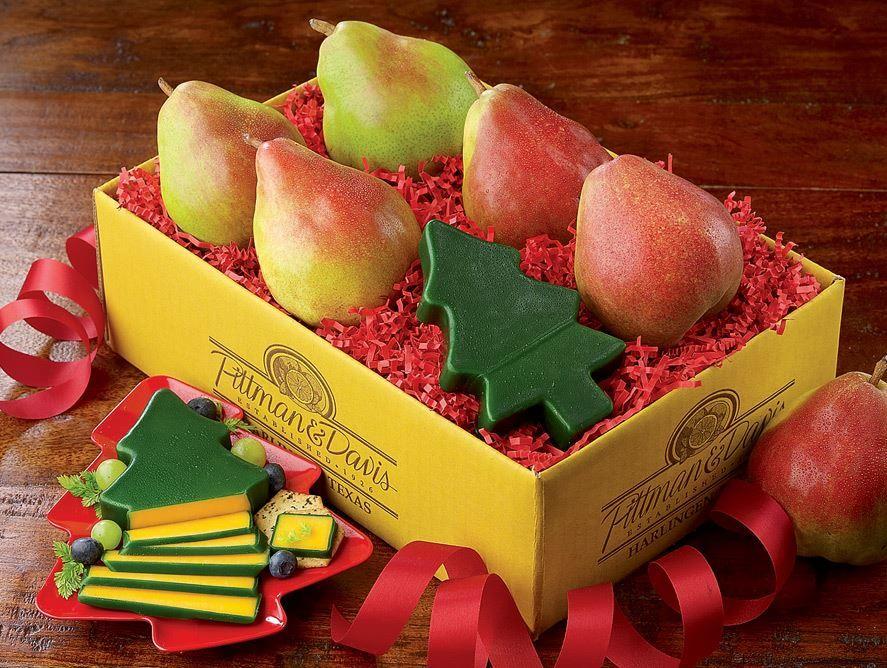 Comice Pears Plus Christmas Tree Cheddar